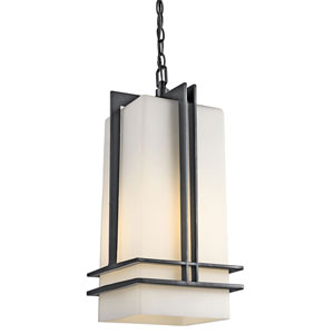Tremillo Black One-Light Outdoor Pendant