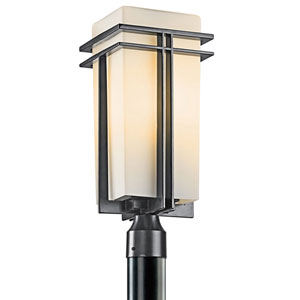 Tremillo Black One-Light 20-Inch Outdoor Post Mount