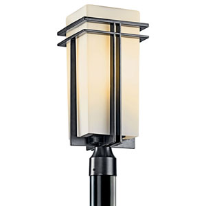 Tremillo Black One-Light Fluorescent 20-Inch Outdoor Post Mount