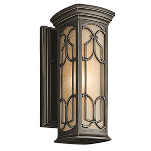 Franceasi Olde Bronze One-Light 14.5-Inch Wall Mount