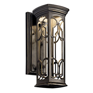 Franceasi Dark Sky Olde Bronze One-Light LED 14.5-Inch Wall Mount