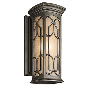 Franceasi Olde Bronze One-Light 18-Inch Wall Mount
