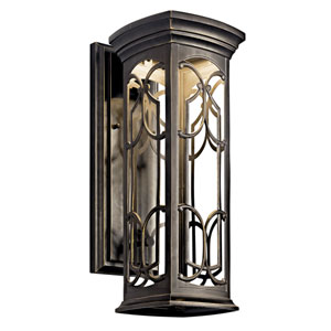 Franceasi Dark Sky Olde Bronze One-Light LED 18-Inch Wall Mount