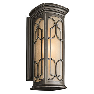 Franceasi Olde Bronze One-Light 22-Inch Wall Mount
