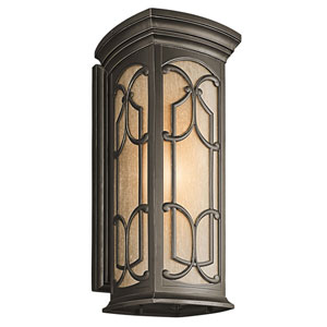 Franceasi Olde Bronze One-Light 25-Inch Wall Mount