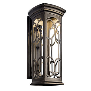 Franceasi Olde Bronze One-Light LED 25-Inch Wall Mount