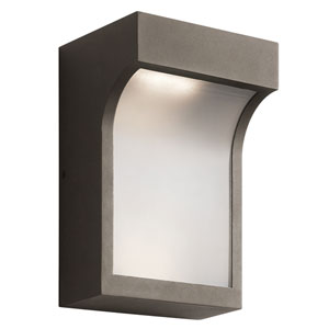 Shelby Textured Architectural Bronze Two-Light Outdoor LED Wall Mount