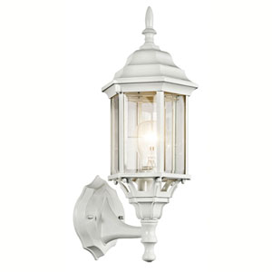 Chesapeake White One-Light Outdoor Wall Mount