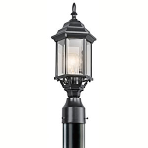 Chesapeake Black One-Light Outdoor Post Mount