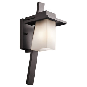Stonebrook One-Light Architectural Bronze Outdoor Wall Fixture