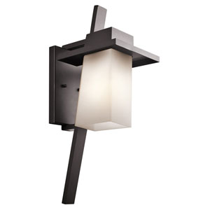 Stonebrook One-Light Architectural Bronze Outdoor Wall Sconce