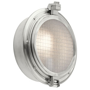 Clear Point Brushed Aluminum One-Light Outdoor Wall Mount