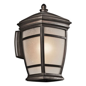 McAdams Rubbed Bronze One-Light 14-Inch Outdoor Wall Mount