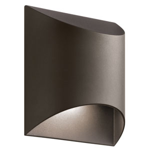 Wesly Textured Architectural Bronze 7.5-Inch LED Outdoor Wall Sconce