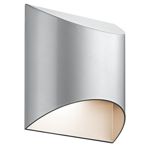 Wesly Platinum 7.5-Inch LED Outdoor Wall Sconce