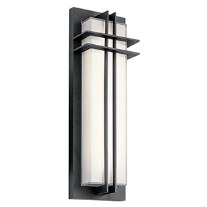Manhattan Textured Black 7-Inch LED Medium Outdoor Wall Light