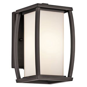 Bowen Arthitectural Bronze One-Light 9.5-Inch Outdoor Wall Mount