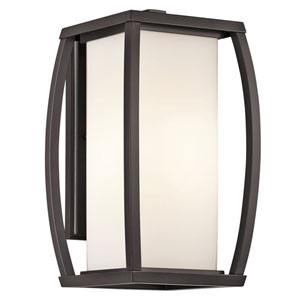 Bowen Arthitectural Bronze One-Light 16-Inch Outdoor Wall Mount