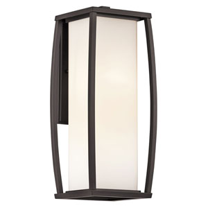 Bowen Arthitectural Bronze Two-Light 18-Inch Outdoor Wall Mount