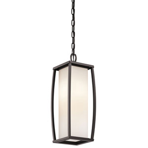 Bowen Arthitectural Bronze Two-Light Outdoor Pendant