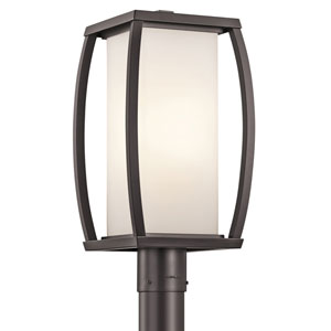 Bowen Arthitectural Bronze One-Light Outdoor Post Lantern