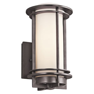 Pacific Edge Architectural Bronze 6-Inch One-Light Outdoor Wall Mount