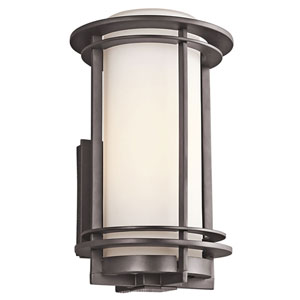 Pacific Edge Architectural Bronze Outdoor Wall Mounted Light - Width 8 Inches