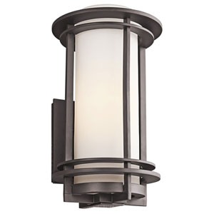 Pacific Edge Architectural Bronze Outdoor Wall Mounted Light - Width 9.5 Inches