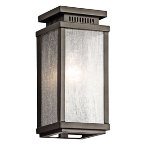 Manningham Olde Bronze One Light Small Outdoor Wall Sconce