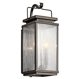Manningham Olde Bronze Two Light Medium Outdoor Wall Sconce