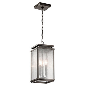Manningham Olde Bronze Three Light Outdoor Hanging Mini Pendant