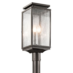 Manningham Olde Bronze Three Light Outdoor Post Lantern