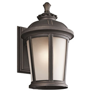 Ralston Rubbed Bronze Outdoor Wall Mounted Light - Width 10 Inches