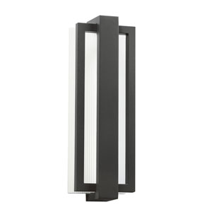 Sedo Satin Black 6-Inch 12-Light LED Outdoor Small Wall Sconce