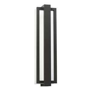 Sedo Satin Black 12-Light LED Outdoor Small Wall Sconce