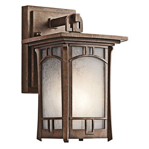 Soria Aged Bronze One-Light Outdoor Wall Light - Width 6 Inches