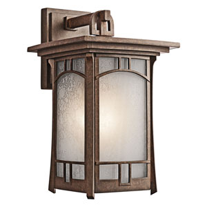 Soria Aged Bronze One-Light Outdoor Wall
