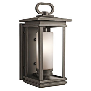 South Hope Rubbed Bronze 9-Inch One-Light Outdoor Wall Mount