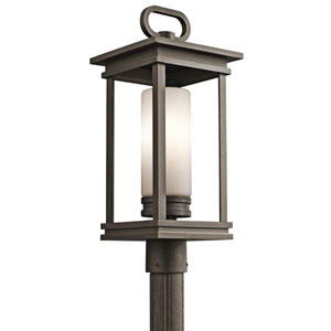 South Hope Rubbed Bronze Outdoor Post Mount