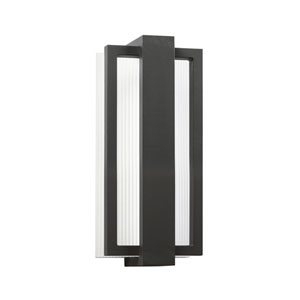 Sedo Satin Black Six Light LED Outdoor Small Wall Sconce