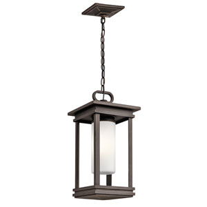 South Hope Rubbed Bronze One-Light Outdoor Pendant