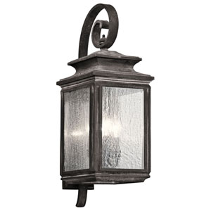 Wiscombe Park Weathered Zinc Four Light Large Outdoor Wall Sconce