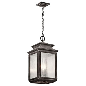 Wiscombe Park Weathered Zinc Four Light Outdoor Hanging Pendant