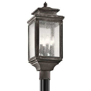 Wiscombe Park Weathered Zinc Four Light Outdoor Post Lantern