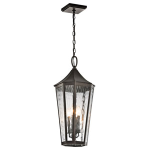 Rochdale Olde Bronze Four Light Outdoor Hanging Pendant