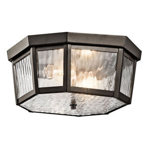 Rochdale Olde Bronze Two Light Outdoor Flush and Semi Flush Mount