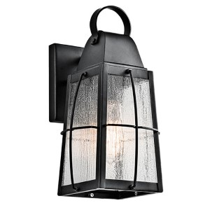 Tolerand Textured Black One-Light Medium Outdoor Wall Sconce