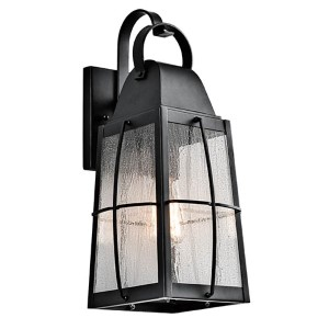 Tolerand Textured Black One-Light Small Outdoor Wall Sconce