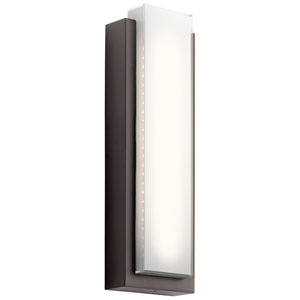 Dahlia Architectural Bronze Two-Light Outdoor LED Tall Wall Mount