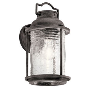 Ashland Bay Weathered Zinc One-Light Outdoor Wall